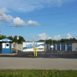 Entrance to storage facility