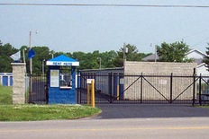 Gated entrance and rental booth