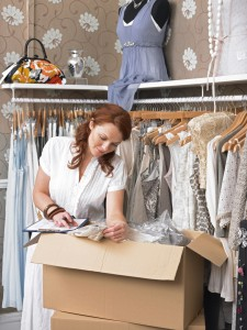 Woman Packing Closet