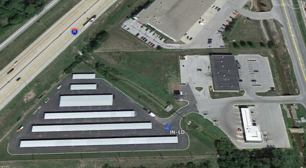 Aerial view of Indianapolis storage facility