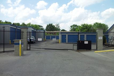 Gated and secure entrance to storage facility