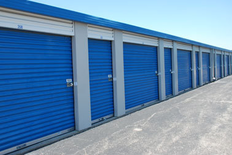 Outdoor storage units of varying sizes