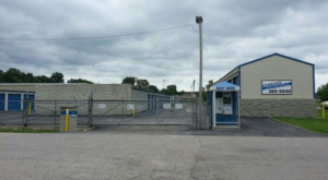 Secure main entrance to storage facility