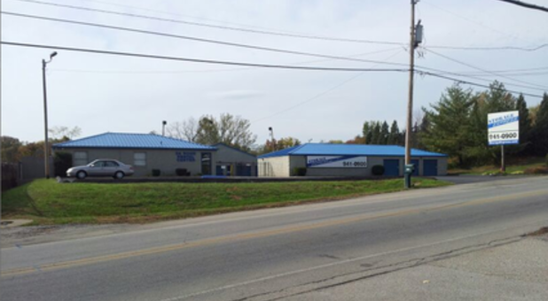 Street view of New Albany storage unit