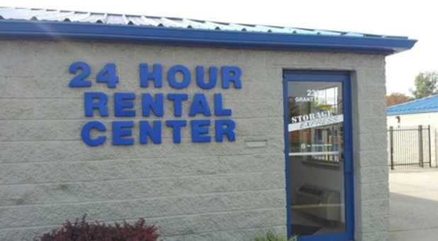 24 hour rental center building