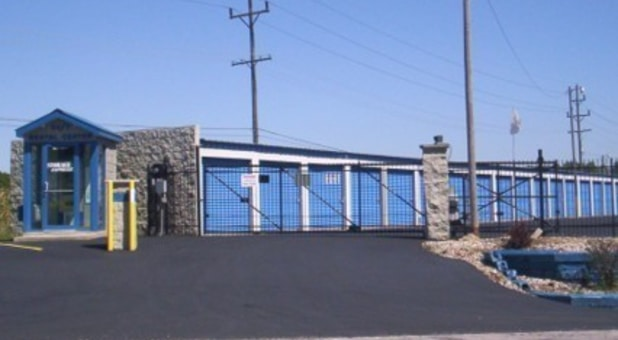Gated and secure entrance to Storage Express