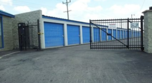 Gate to storage facility