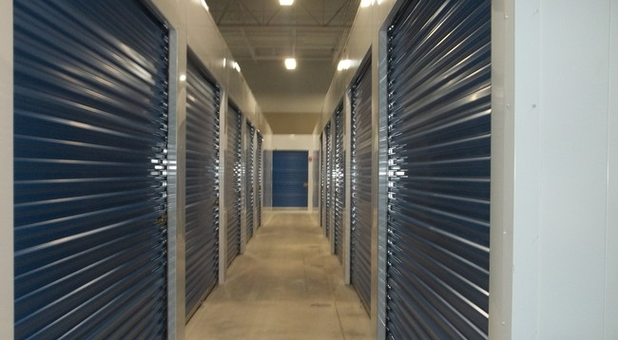 Rows of climate controlled storage units