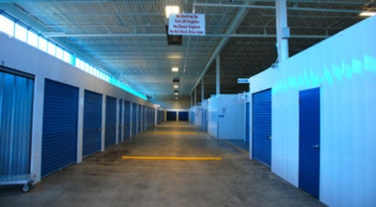 Large hallway with climate controlled storage units