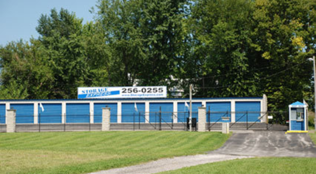 Street view of self storage facility