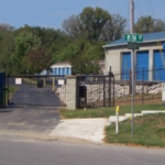 15th Street entrance to storage facility