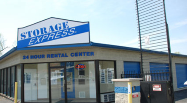 Main entrance to rental center and storage facility