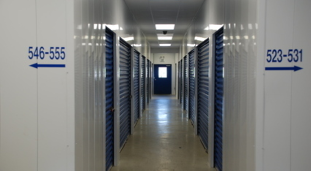 Clean, well-lit indoor storage facility