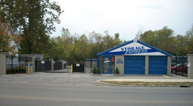 Secure and gated entrance to storage facility