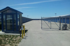 Secure slidegate to outdoor storage facility